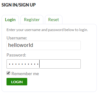 helloworld login